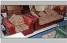 Four Seater Chesterfield Sofa and matching Chair,