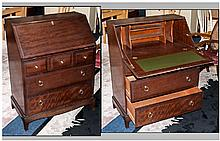 A Contemporary Mahogany Stag Style Bureau, with a