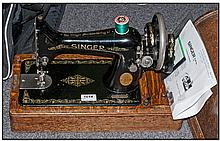 Singer Table Top Sewing Machine. From the Singer