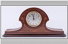 Oak Cased Napoleon Shaped Mantel Clock, with