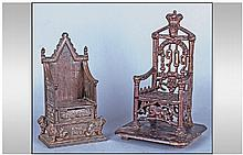 Coronation Chair Commemorative Money Banks, one