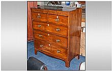 A Late Georgian Mahogany Inlaid Chest of Drawers