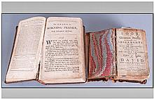 Two Early Leather Bound Bibles. One book of common
