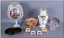 A Collection Of Glass And Pottery. Comprising
