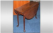 Small Size George III Walnut Drop Leaf Supper