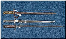 Display Purposes Only. Brass handled bayonet,