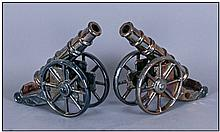 Pair Of 1920's/1930's Enamelled Iron Models Of