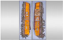 A Rare Orange Order Sash, with attached symbolic