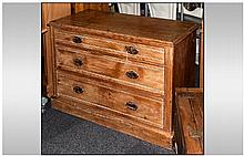 Edwardian Pine Chest of Drawers, with 3 long