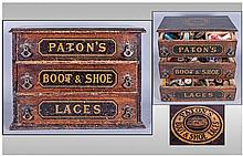Unusual Wood Victorian Advertising Chest Of