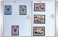 3 Stamp Albums. Souvenir stamp albums The Royal