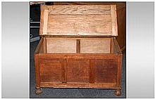1930's Oak Lift up Lid Bedding Box. With 35