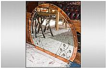 Large Art Deco Over Mantle Mirror, with peach