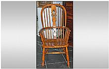 Antique Beech/Ash Windsor Armchair Of Traditional