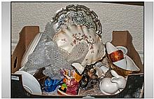 Box of Assorted Ceramics and Collectable's.