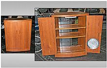 G-Plan Double Fronted Bow Door Cocktail Cabinet.