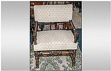 Dutch Carved Walnut Borroc Style Armchair, with