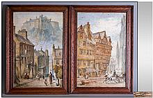 Pair of Scottish Paintings. Framed and mounted