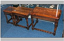 Jacobean Oak Nest of Tables