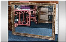 Large Over Mantle Gilt Mirror, bevelled glass.