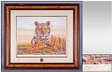 A Signed Limited Edition Print of A Bengal Tiger.