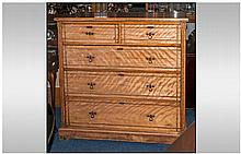 Modern Pine Chest of Drawers, with 3 long drawers,