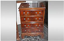 Small Mahogany 4 Drawer Reproduction Chest of