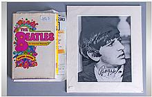The Beatles Items. Autographs including Ringo