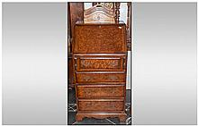 A Reproduction Queen Anne Style Burr Walnut