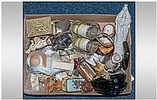 Box of Assorted Miniatures and Trinkets including