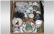 Miscellaneous Box Containing Oriental Figures,