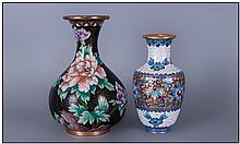 Early 20th Century Cloisonne Vases, 2 in total.