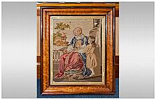 Fine Quality Victorian Sampler Picture, depicting