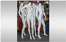 Four Life Size Shop Mannequins, all female. For