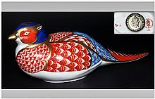 Royal Crown Derby Paperweight ' Pheasant ' Issued