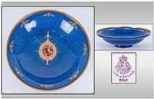 Royal Worcester Mottled Blue Shallow Footed Bowl,