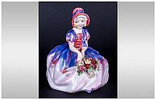 Royal Doulton Miniature Early Figure ' Monica ' HN