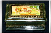 Fine Quality Russian Lacquer Table Box beautifully