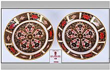 Royal Crown Derby Fine Pair Of Imari Pin Dishes, P