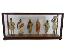 ANGLO-INDIAN Diorama of Class Structure, Antique