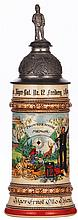 Regimental stein, .5L, 11.3'' ht., pottery, 1.