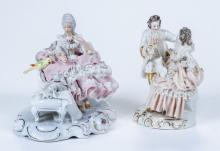 Two figurines with Dresden style