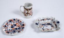 Three Coldport style Japan stone china 19th cent.