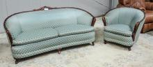 1920's/30s love seat & chair