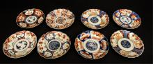 Eight 19th cent. export porcelain plates