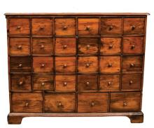 Twenty-eight drawer pine apothecary chest