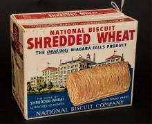 National Biscuit shredded wheat cardboard