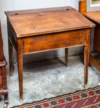 Pine lift top desk - early tapered legs