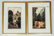 Set of two Maxfield Parrish -