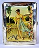 Swiss Sterling Silver Enameled Cigarette Case